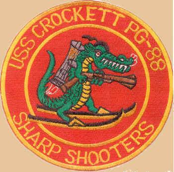 USS Crockett PG-88 Patch