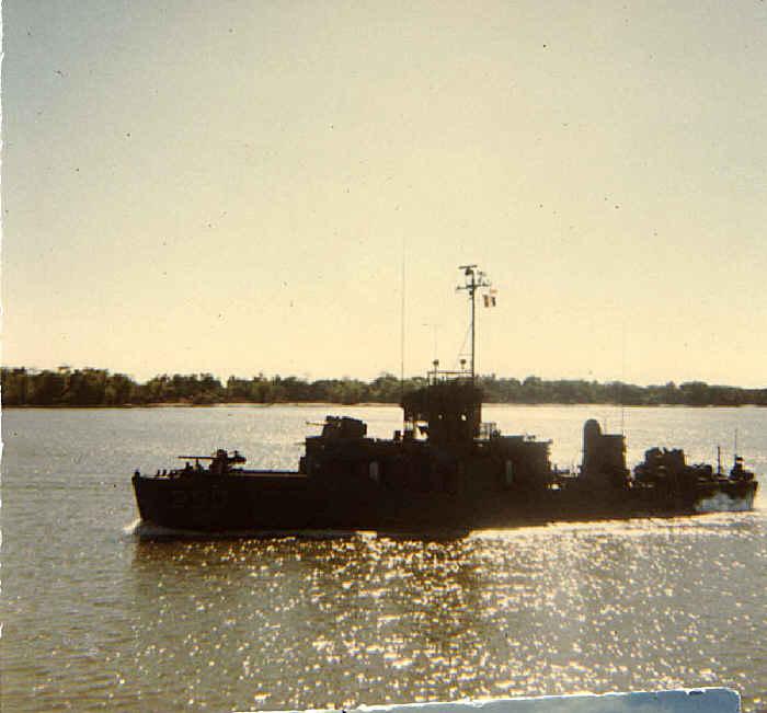 The combat river ships in Vietnam